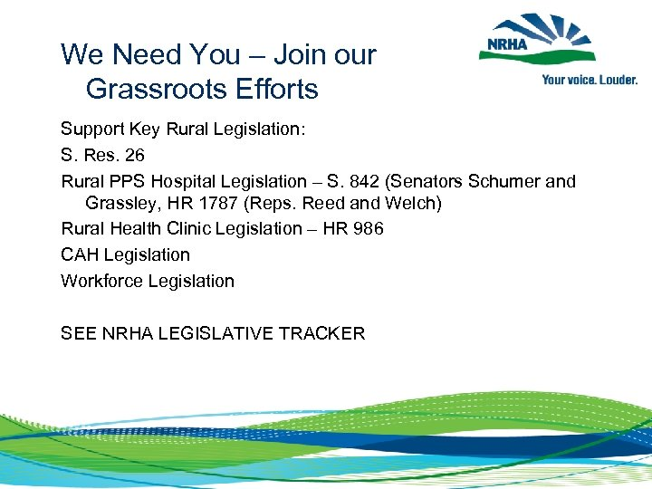 We Need You – Join our Grassroots Efforts Support Key Rural Legislation: S. Res.