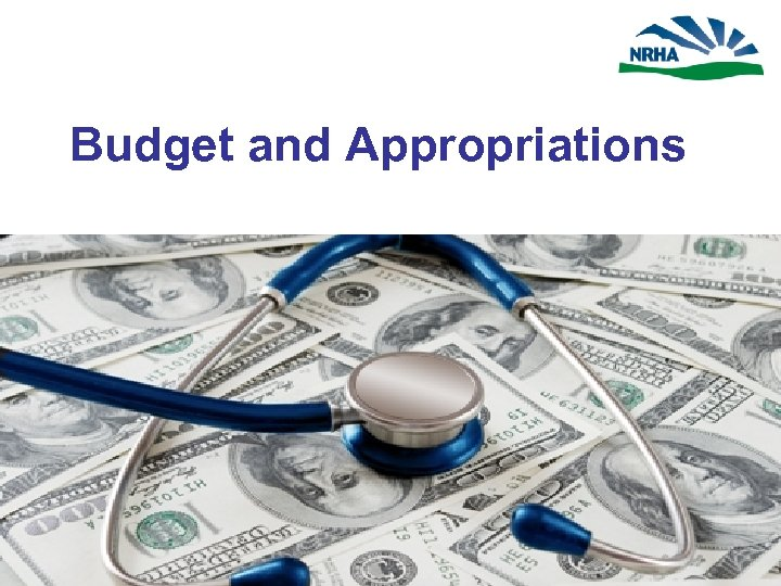 Budget and Appropriations APPROPRIATIONS MORE IMPORTANT THAN EVER.