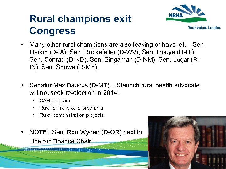 Rural champions exit Congress • Many other rural champions are also leaving or
