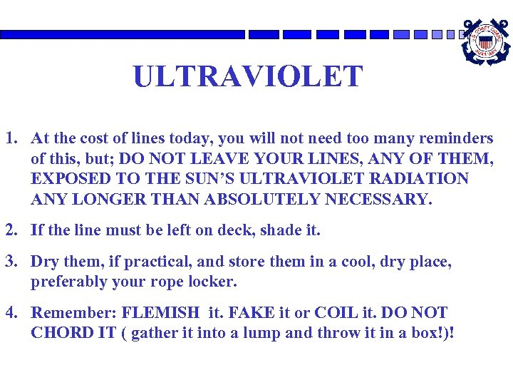 ULTRAVIOLET 1. At the cost of lines today, you will not need too many