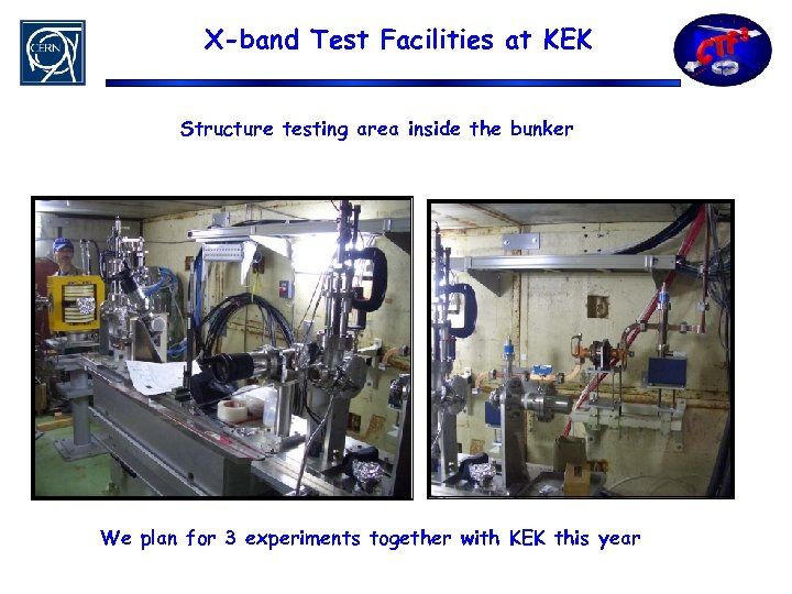 X-band Test Facilities at KEK Structure testing area inside the bunker We plan for