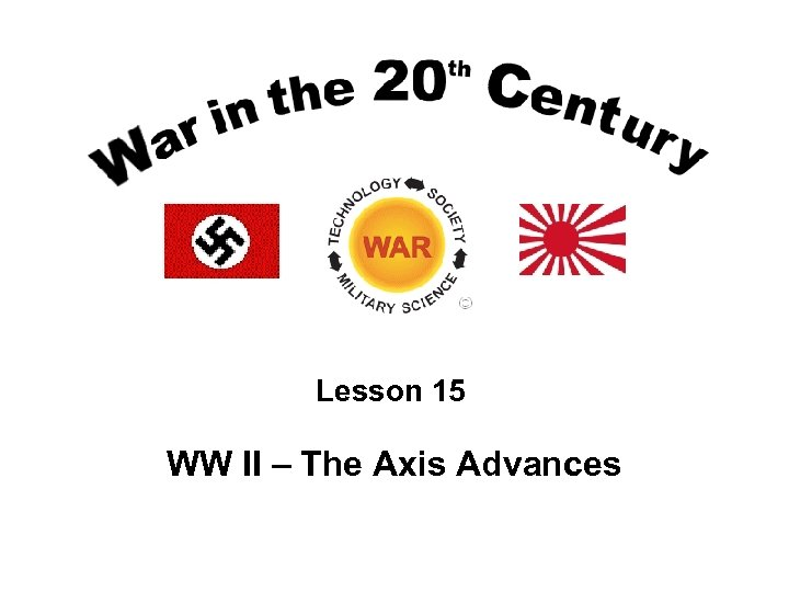 Lesson 15 WW II – The Axis Advances