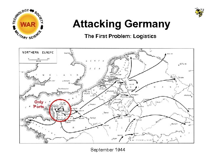 Attacking Germany The First Problem: Logistics Only Ports September 1944