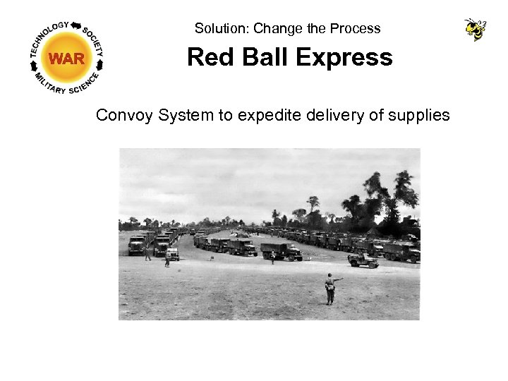 Solution: Change the Process Red Ball Express Convoy System to expedite delivery of supplies