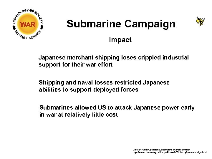 Submarine Campaign Impact Japanese merchant shipping loses crippled industrial support for their war effort