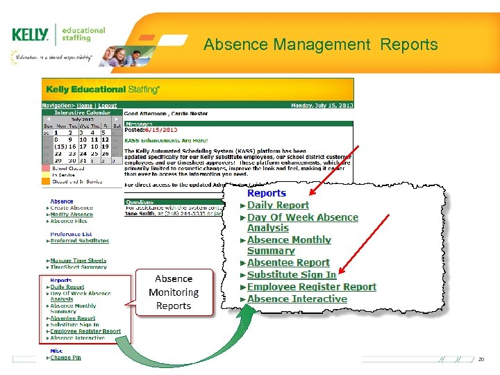 Absence Management Reports 20