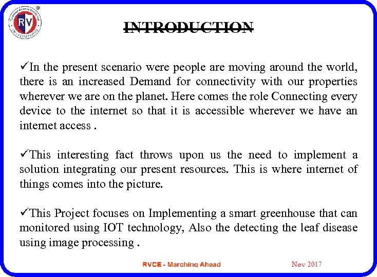 M Tech MAJOR PROJECT Presentation PHASE — I