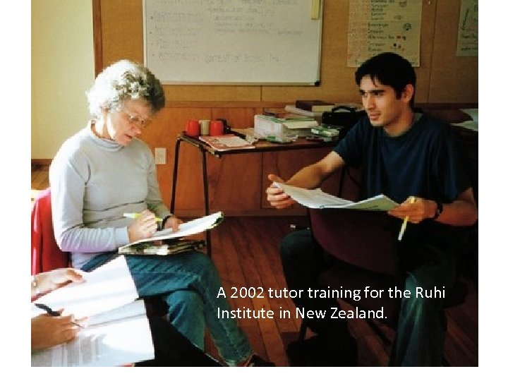 A 2002 tutor training for the Ruhi Institute in New Zealand.
