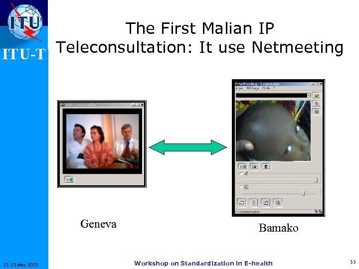 The First Malian IP ITU-T Teleconsultation: It use Netmeeting Geneva 23 -25 May 2003