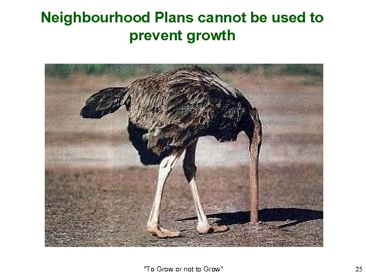 Neighbourhood Plans cannot be used to prevent growth