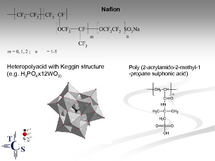 Nafion Heteropolyacid with Keggin structure (e. g. H 3 PO 4 x 12 WO