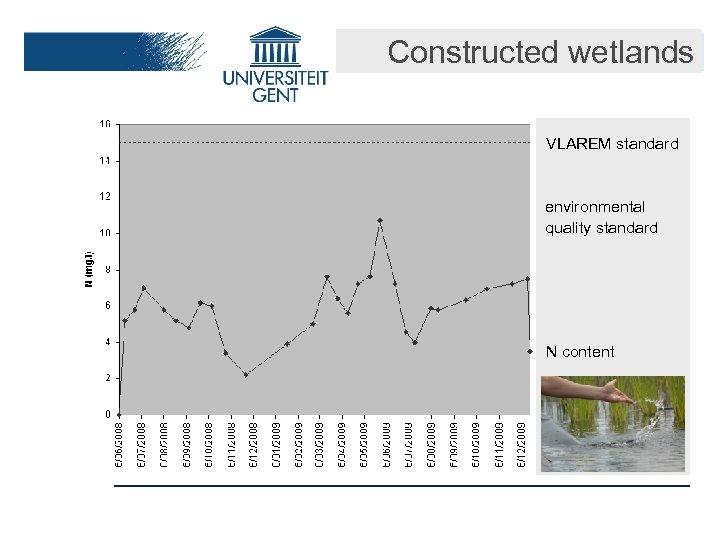 Constructed wetlands VLAREM standard environmental quality standard N content