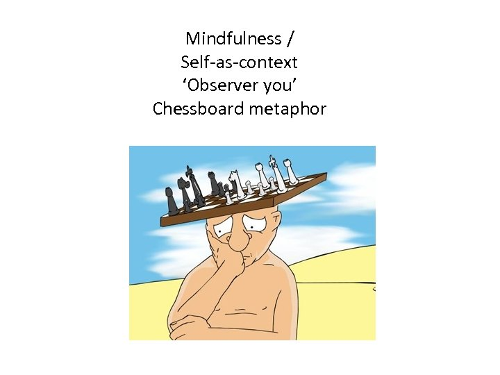 Mindfulness / Self-as-context 'Observer you' Chessboard metaphor
