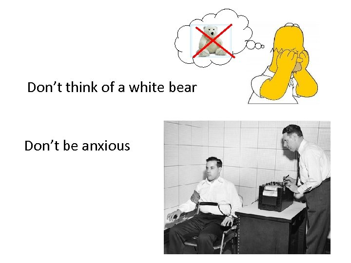 Don't think of a white bear Don't be anxious