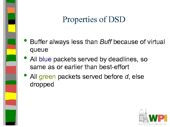 Properties of DSD • Buffer always less than Buff because of virtual • •