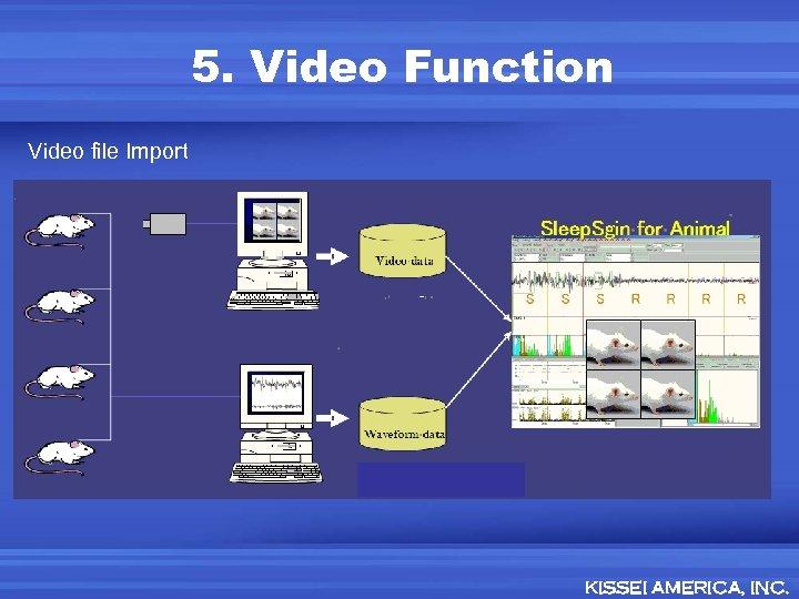 5. Video Function Video file Import KISSEI AMERICA, INC.