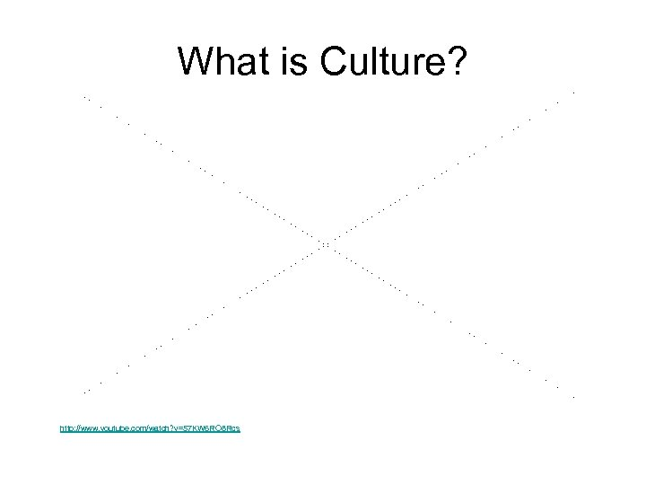 What is Culture? http: //www. youtube. com/watch? v=57 KW 6 RO 8 Rcs
