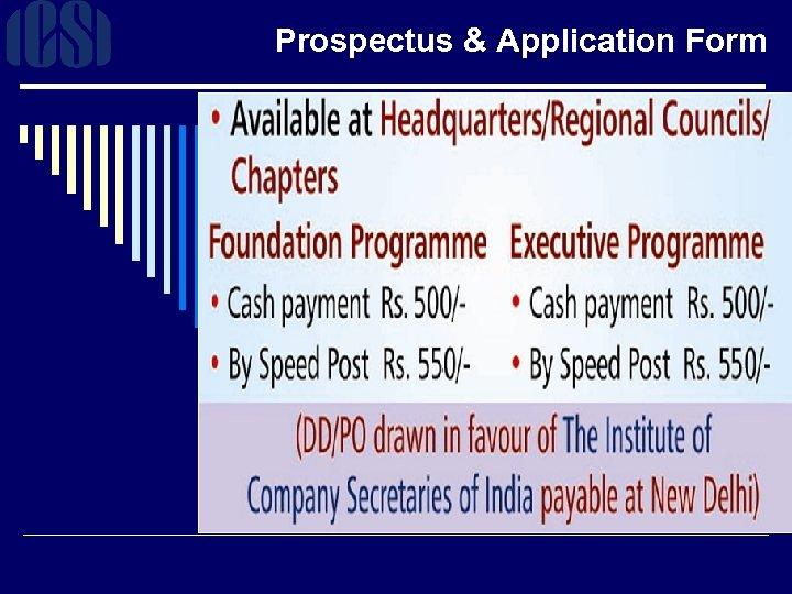 Prospectus & Application Form