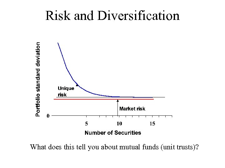 Risk and Diversification What does this tell you about mutual funds (unit trusts)?