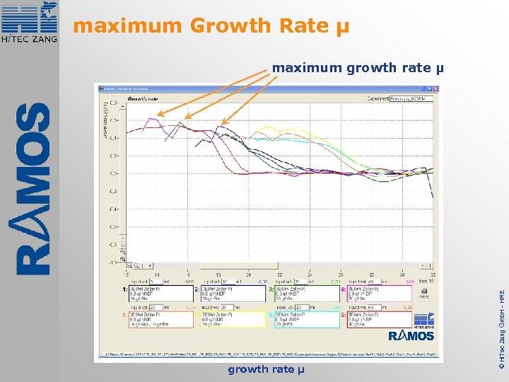 maximum Growth Rate µ growth rate µ © Hi. Tec Zang Gmb. H -