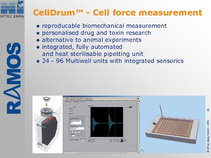 Cell. Drum™ - Cell force measurement reproducable biomechanical measurement personalised drug and toxin research
