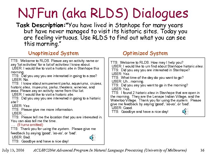 NJFun (aka RLDS) Dialogues Task Description: