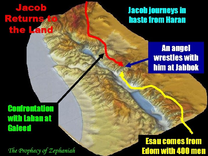 Jacob Returns to the Land … …. Jacob journeys in haste from Haran An