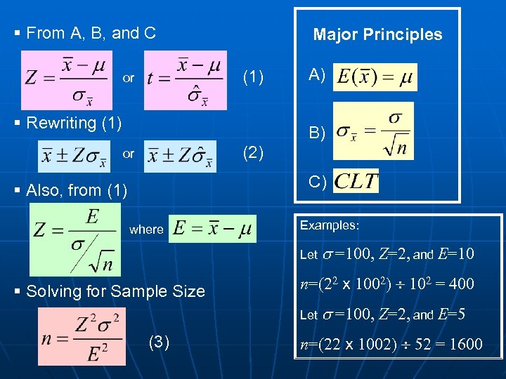 § From A, B, and C Major Principles (1) or § Rewriting (1) A)