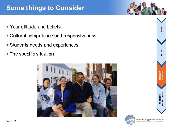 Some things to Consider Cultural competence and responsiveness Research Your attitude and beliefs Students