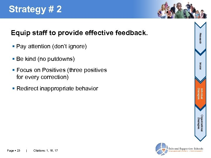 Strategy # 2 Pay attention (don't ignore) Research Equip staff to provide effective feedback.