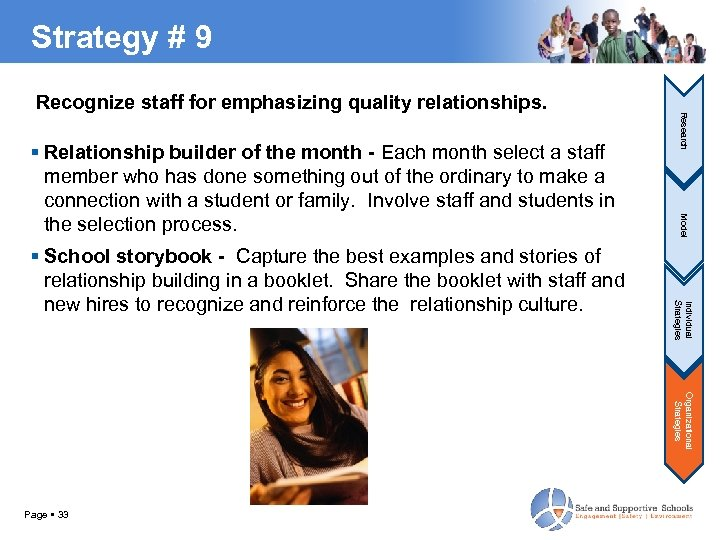Strategy # 9 Individual Strategies School storybook - Capture the best examples and stories