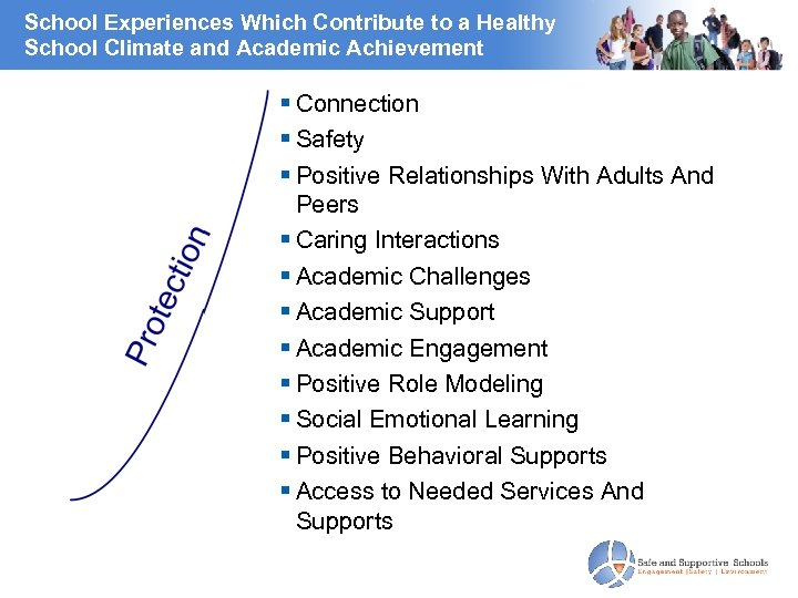 School Experiences Which Contribute to a Healthy School Climate and Academic Achievement Connection Safety