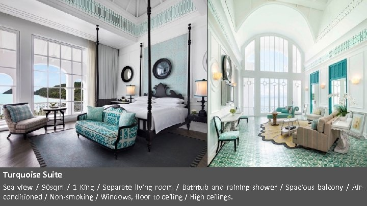 Turquoise Suite Sea view / 90 sqm / 1 King / Separate living room
