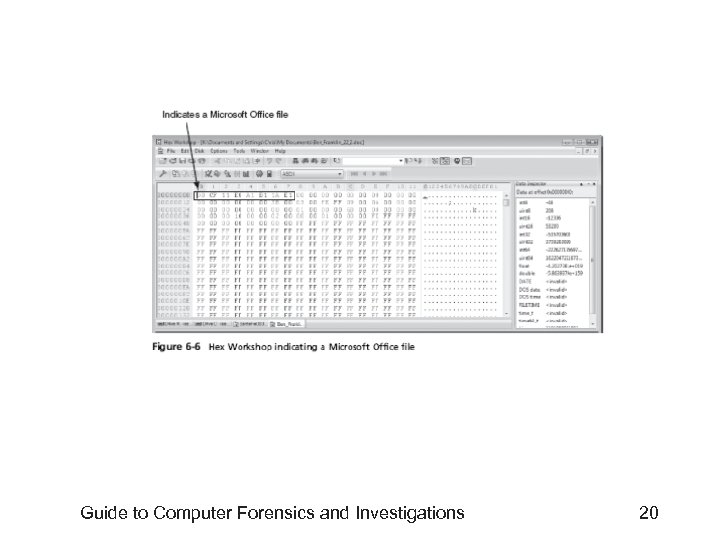 Guide to Computer Forensics and Investigations 20