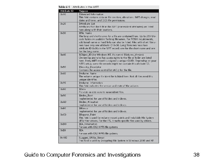 Guide to Computer Forensics and Investigations 38