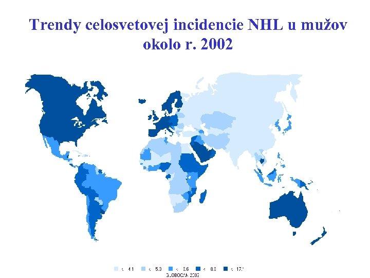 Trendy celosvetovej incidencie NHL u mužov okolo r. 2002