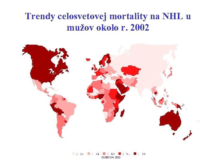 Trendy celosvetovej mortality na NHL u mužov okolo r. 2002