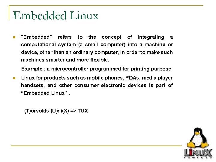 Embedded Linux n