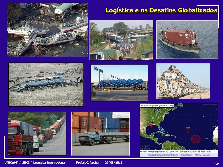 Logística e os Desafios Globalizados UNICAMP / LEICI / Logística Internacional Prof. : LC.