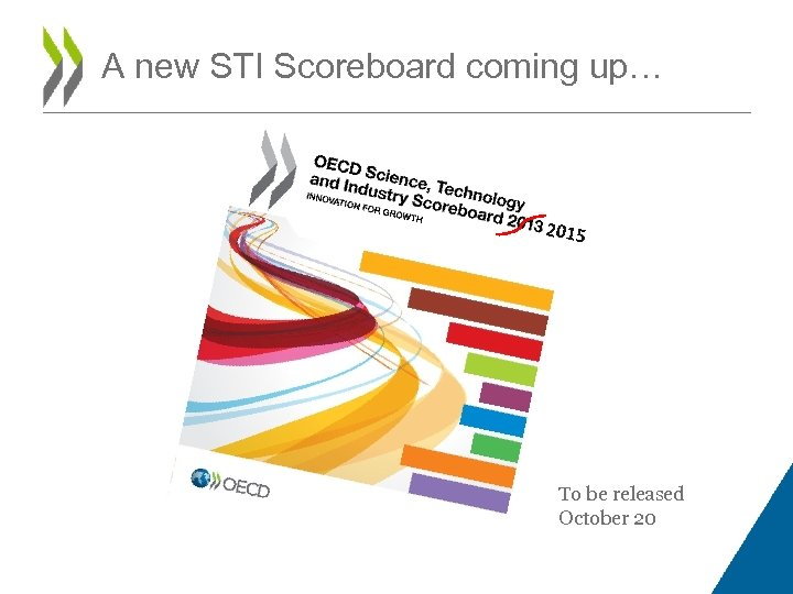 A new STI Scoreboard coming up… 2015 To be released October 20