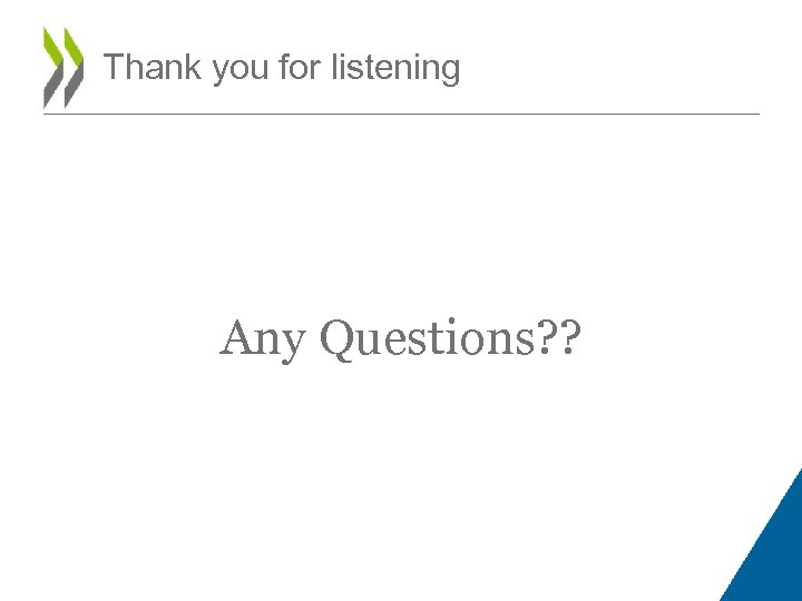Thank you for listening Any Questions? ?