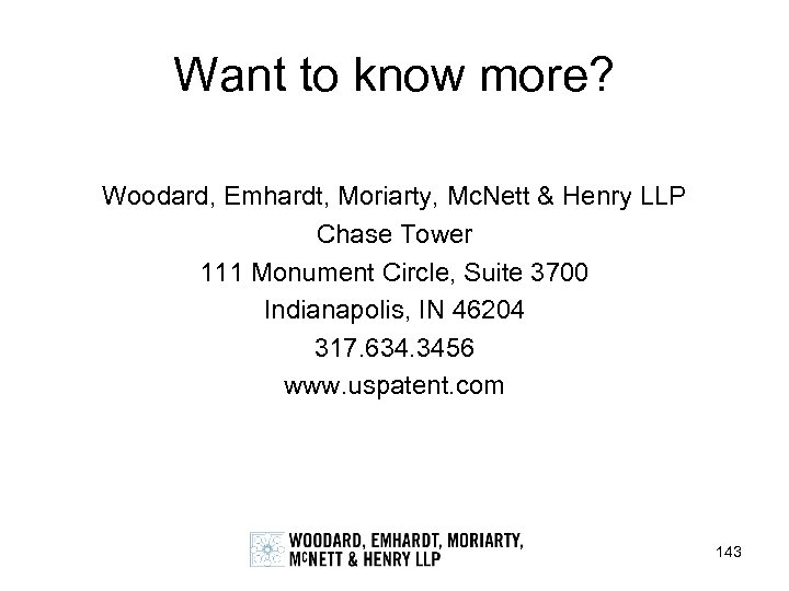 Want to know more? Woodard, Emhardt, Moriarty, Mc. Nett & Henry LLP Chase Tower