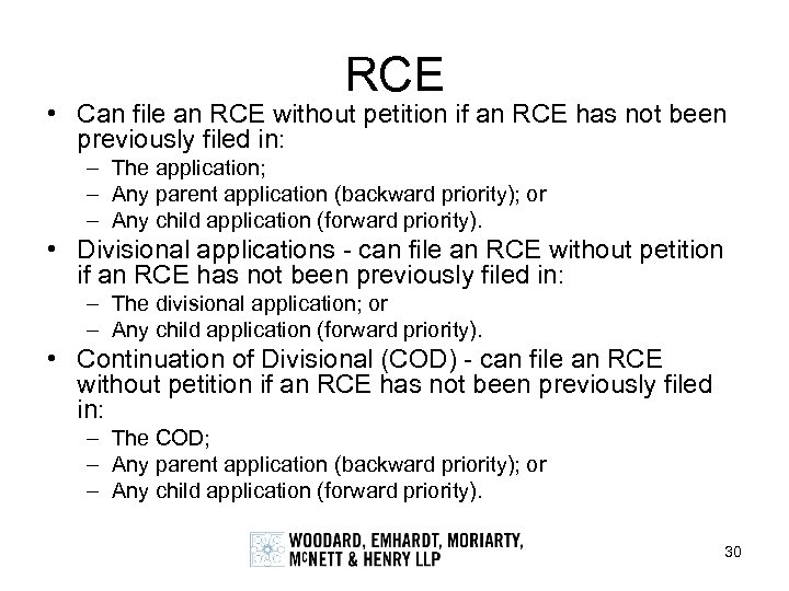 RCE • Can file an RCE without petition if an RCE has not been