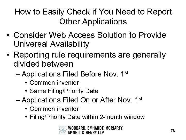 How to Easily Check if You Need to Report Other Applications • Consider Web
