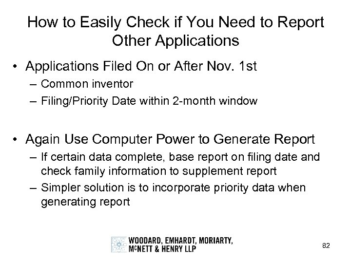 How to Easily Check if You Need to Report Other Applications • Applications Filed