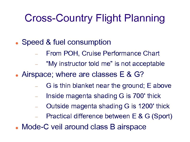 "Cross-Country Flight Planning Speed & fuel consumption From POH, Cruise Performance Chart ""My instructor"