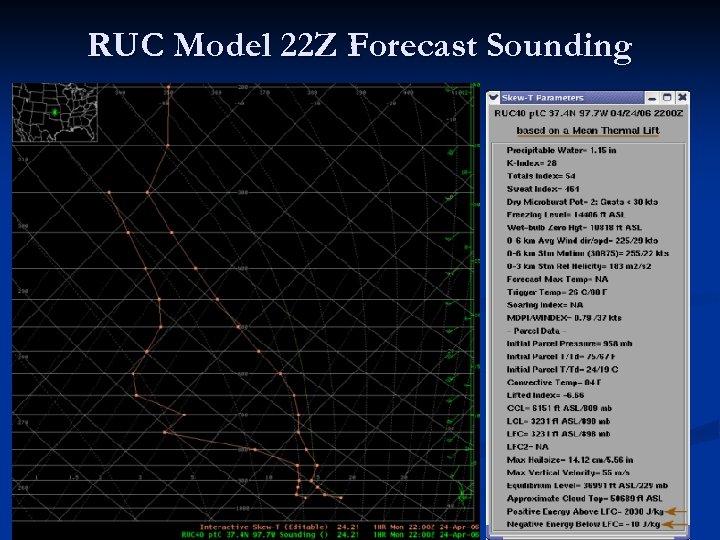 RUC Model 22 Z Forecast Sounding
