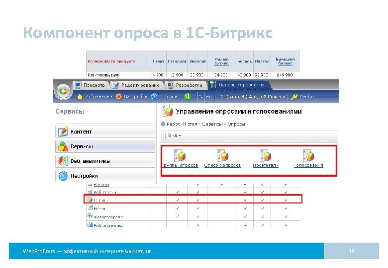 Компонент опроса в 1 С-Битрикс Web. Profiters — эффективный интернет-маркетинг 16