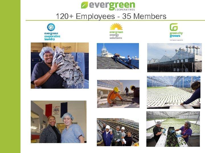 120+ Employees - 35 Members