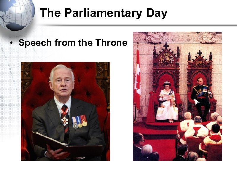 The Parliamentary Day • Speech from the Throne